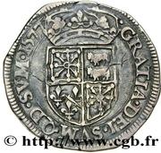 Teston (type de Morlaàs) - Henri II de Béarn, III de Navarre, IV de France et Marguerite de Valois – revers
