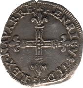 Quart d'écu de Navarre - Henri II de Béarn, III de Navarre, IV de France – avers