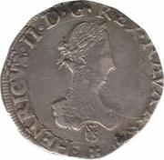 """Franc de Navarre """"à l'écu"""" - Henri II de Béarn, III de Navarre, IV de France – avers"""