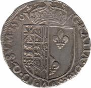 """Franc de Navarre """"à l'écu"""" - Henri II de Béarn, III de Navarre, IV de France – revers"""