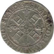"Franc de Navarre ""aux quatre H"" (2ème type) - Henri II de Béarn, III de Navarre, IV de France – revers"
