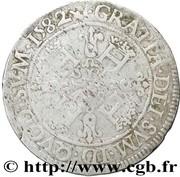 "Franc de Navarre ""aux quatre H"" (1er type) - Henri II de Béarn, III de Navarre, IV de France – revers"