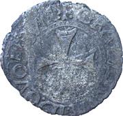 """Liard de Navarre """"à la croix pattée"""" - Henri II d'Albret – revers"""