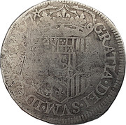 Teston (type de Pau) - Henri II de Béarn, III de Navarre, IV de France et Marguerite de Valois – revers
