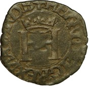 """Liard de Navarre """"à la croisette"""" - Henri II d'Albret – avers"""