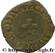 """Liard de Navarre """"à la croisette"""" - Henri II d'Albret – revers"""