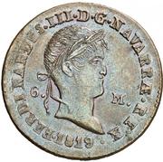 6 maravedis Ferdinand VII – avers