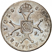 6 maravedis Ferdinand VII – revers