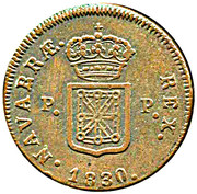 3 maravedis Ferdinand VII – revers