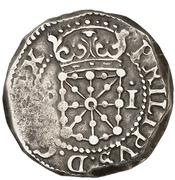 1 real Philippe III – avers