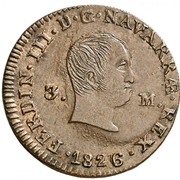 3 maravedis Ferdinand VII – avers