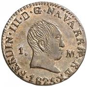 1 maravedi Ferdinand VII – avers