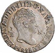 ½ maravedi Ferdinand VII – avers
