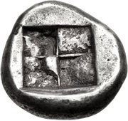 Stater (Naxos) – revers