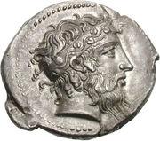 Tétradrachme de Naxos – avers