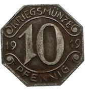 10 pfennig - Neckarsulm – avers