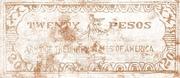 20 Pesos (Negros; 7th Military District) – revers