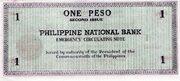 1 Peso (Negros Occidental) – revers