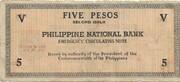 5 Pesos (Negros) – revers