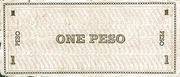 1 Peso (Negros Occidental; Couponized check issue) – revers