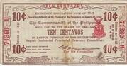 10 Centavos (Negros) – avers