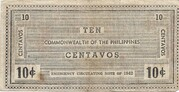 10 Centavos (Negros) – revers