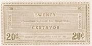 20 Centavos (Negros Occidental) – revers
