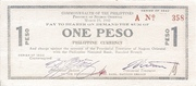 1 Peso (Negros Oriental; Couponized check issue) – avers