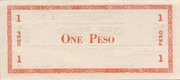 1 Peso (Negros Oriental; Couponized check issue) – revers