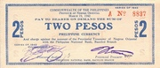 2 Pesos (Negros Oriental; Couponized check issue) – avers