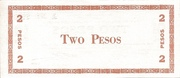 2 Pesos (Negros Oriental; Couponized check issue) – revers
