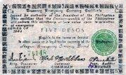 5 Pesos (Negros Emergency Currency Board) – avers