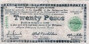 20 Pesos (Negros Emergency Currency Board; Brown paper) – avers