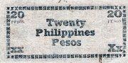 20 Pesos (Negros Emergency Currency Board; Brown paper) – revers