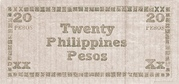 20 Pesos (Negros Oriental) – revers