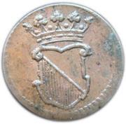 ½ duit (Utrecht) – avers