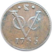 ½ duit (Utrecht) – revers