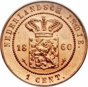 1 cent - Willem III -  avers