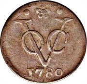 1 duit (Hollandia) – revers