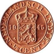 ½ cent - Wilhelmina -  avers
