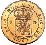 Gulden - Batavian Republic - Enkhuizen Mint – avers