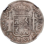 Ducaton - Madura star countermark on Mexico 8 Reales – revers