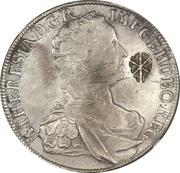 Ducaton - Sultan Paku Nata Ningrat - Madura star countermark on an Austrian Taler from 1752 – avers