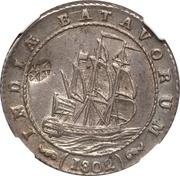 Gulden - Madura Star countermark on a Batavian Republic Gulden 1802 – avers