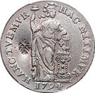 Rupee - Madura Star countermark upon Holland Gulden – avers