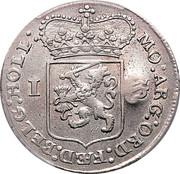 Rupee - Madura Star countermark upon Holland Gulden – revers