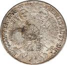Trade Dollar - Arabic Counterstamp  on Maria Theresa Thaler 1765 – revers