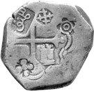 ½ Real Batu - Philip IV - Countermark on Mexico Cob 4 Reales – avers