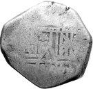 ½ Real Batu - Philip IV - Countermark on Mexico Cob 4 Reales – revers