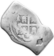 Real Batu - Philip V - Arabic Countermark on Mexico Cob 8 Reales – avers